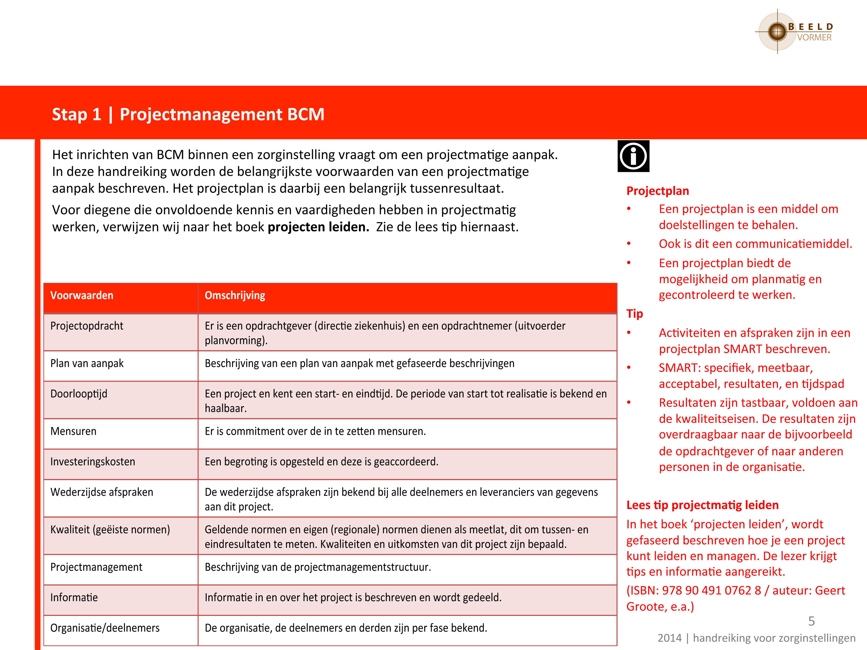 Begeleiding in continuïteitsmanagement / Aantoonbaar voorbereid