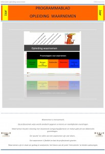Microsoft Word - programmablad opleiding waarnemen 2014.docx